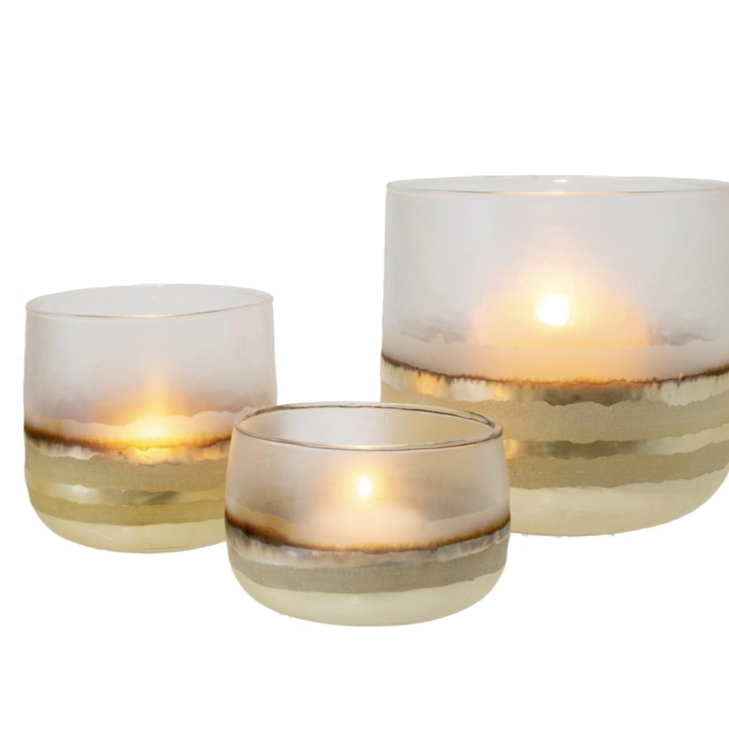 Gold & Glass Candle Holders