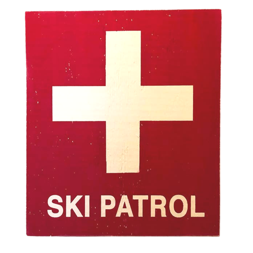 Red Ski Patrol Sign
