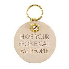 Call My People Leather Pet Tag