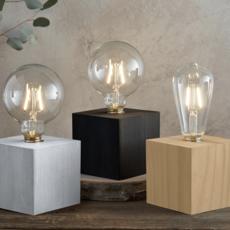 White Wash Edison Lamp