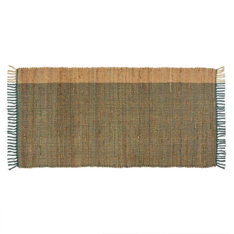 Side Stripe Ocean Jute Rug