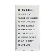 In This House Enameled Sign