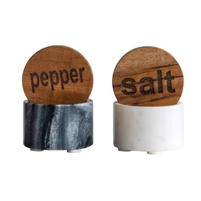 Salt and Pepper Marble Containers