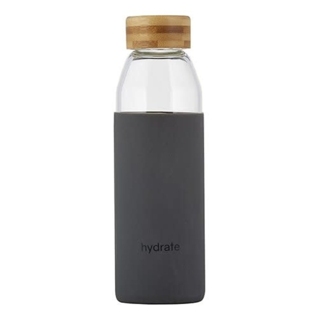 Hydrate Glass Water Bottle