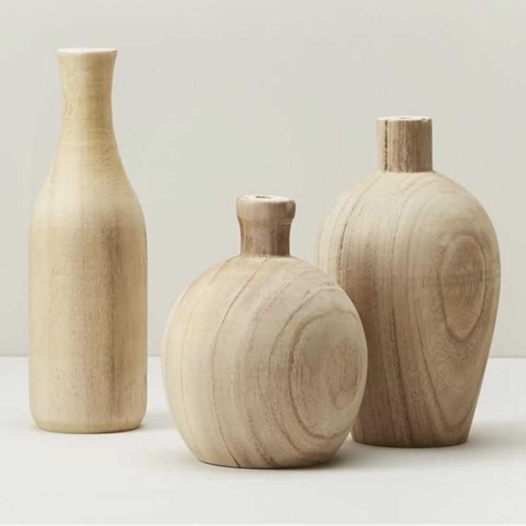 Paulownia Wood Vases