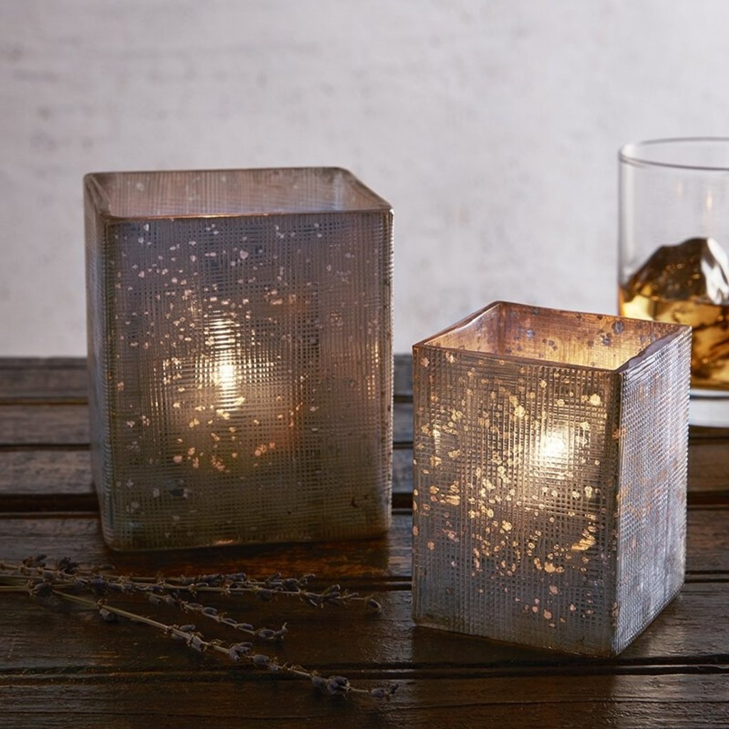 Silver Square Tealight Holders