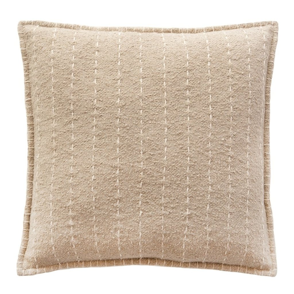 Handquilted Striped Cotton Pillow