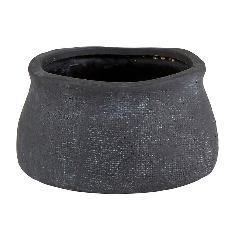 Matte Black Textured Vases