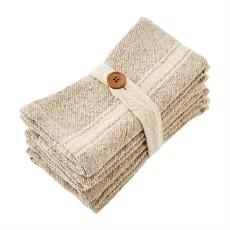 Taupe Grain Sack Napkin Set