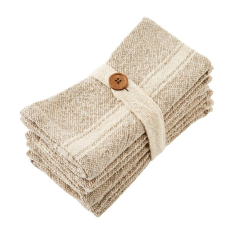 Taupe Grain Sack Napkin Set