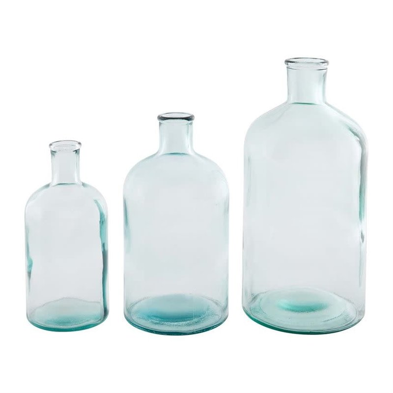 Recycled Glass Bottle Vases