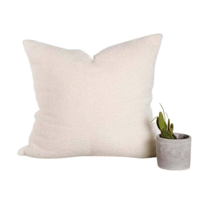 Ecru Fleece Pillow