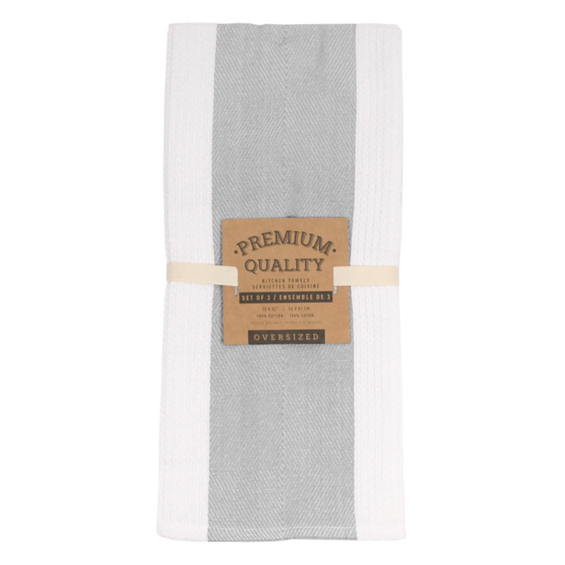 Premium Grey Tea Towel Set