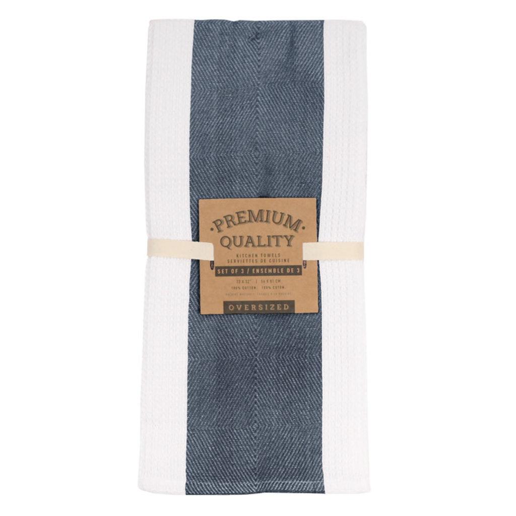 Premium Navy Tea Towel Set