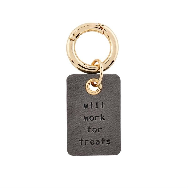 Will Work for Treats Collar Charm