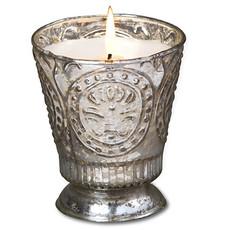 Silver Fleur De Lys Candle