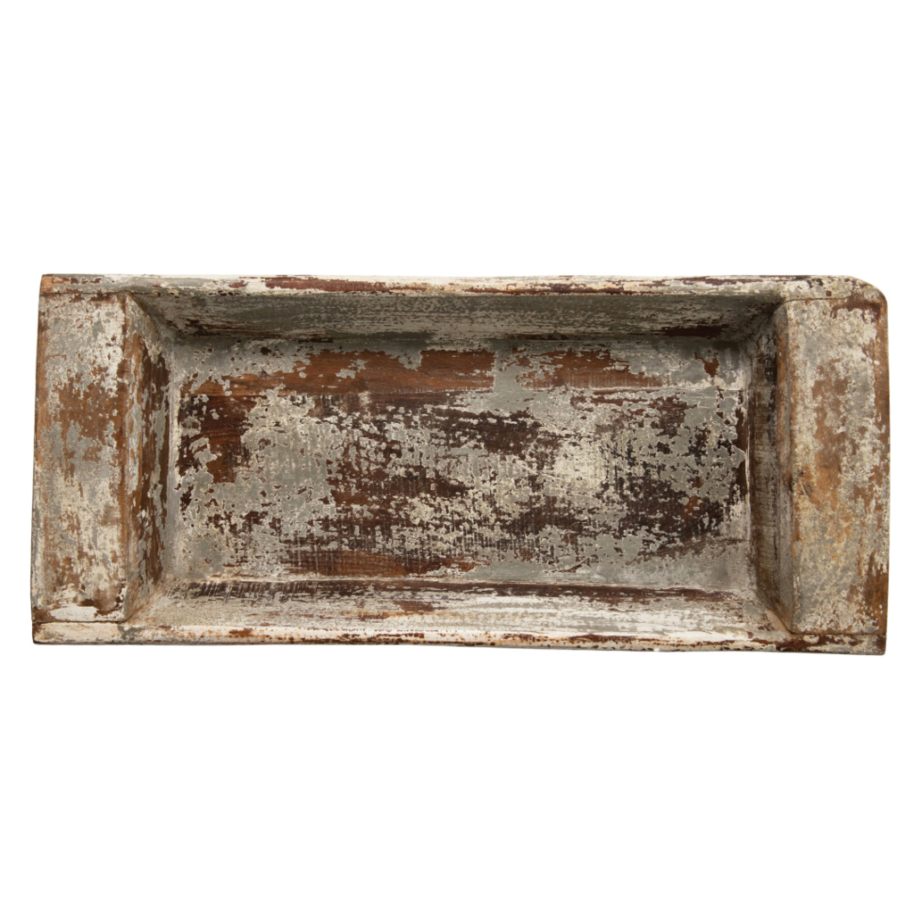 Reclaimed Distressed White Tray