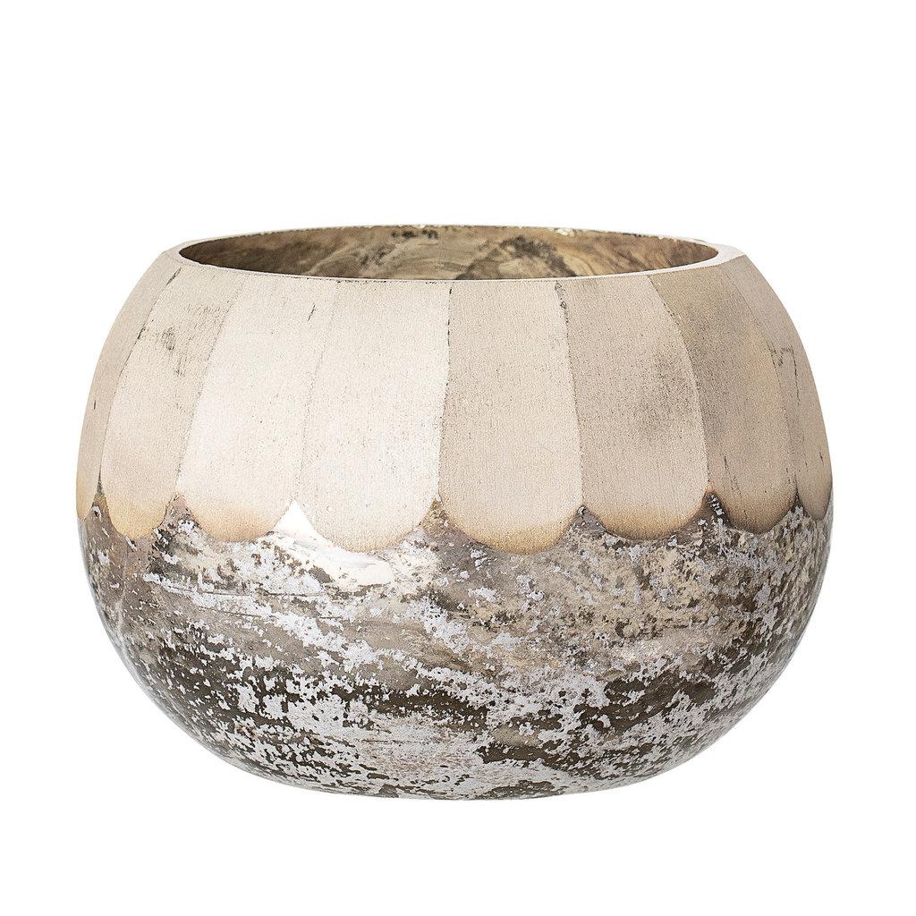 Silver Glass Tealight Holder