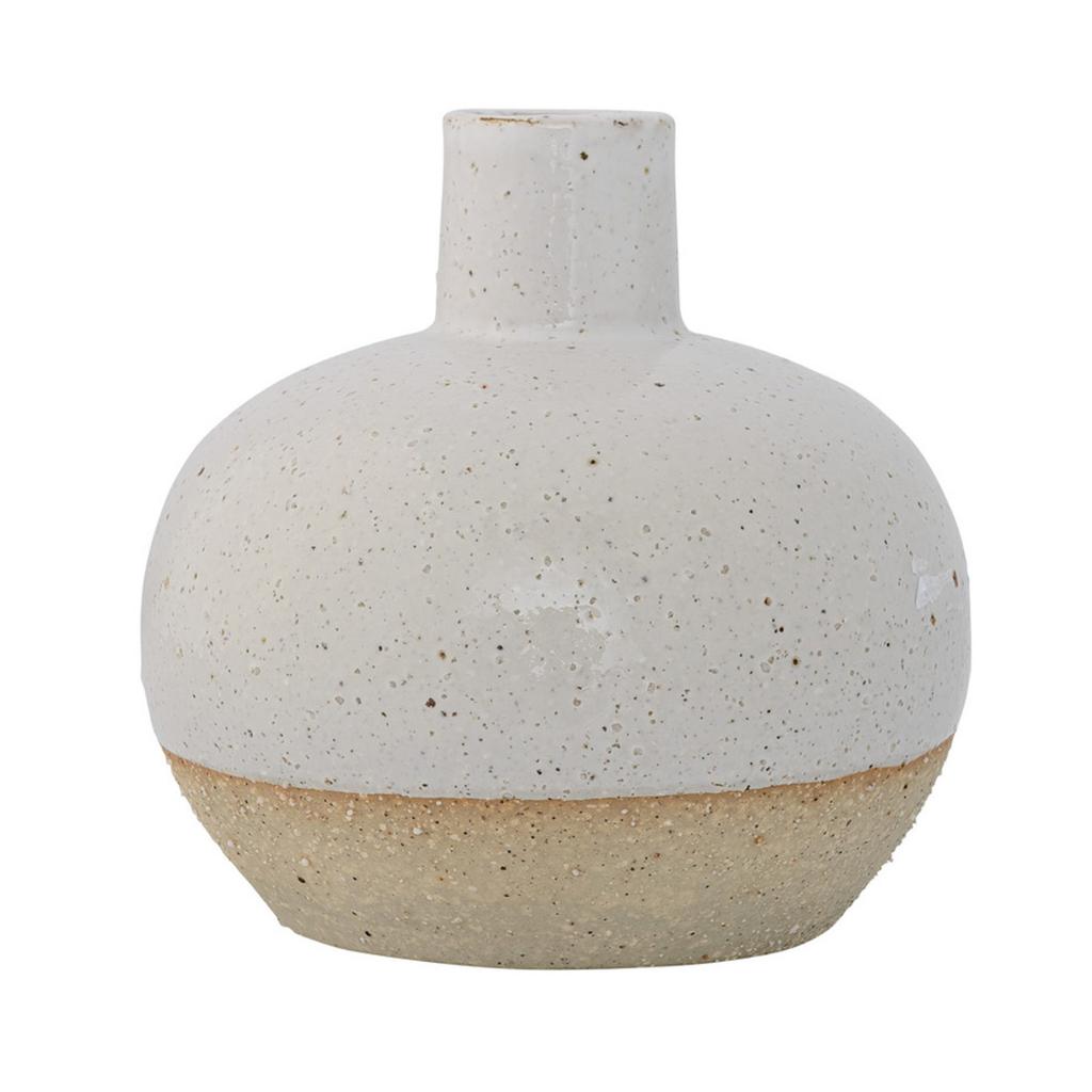 White Stoneware Vase