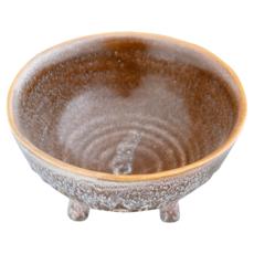 Reactive Glaze Footed Stoneware Pot