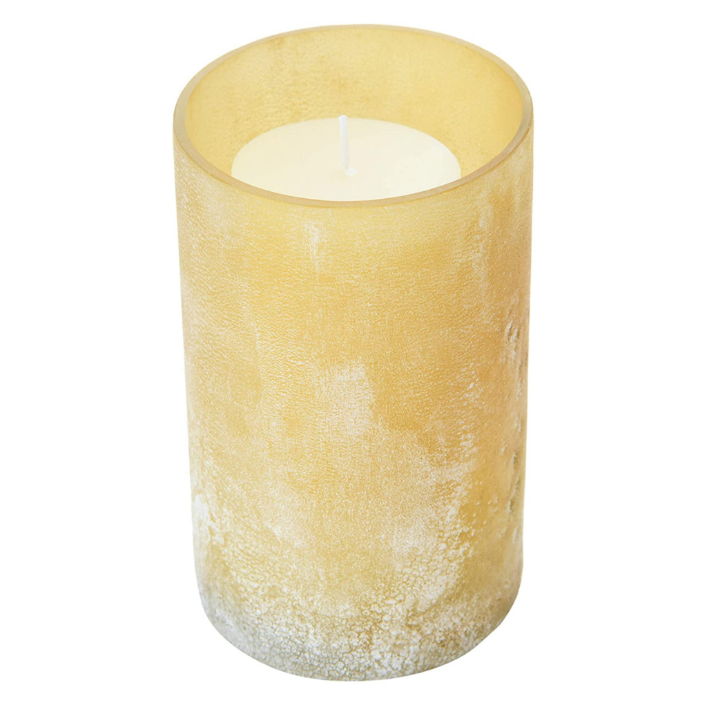 Linen Distressed Frosted Glass Votive