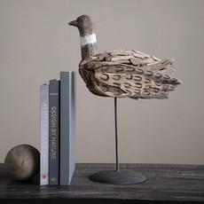 Hand-Painted Driftwood Bird