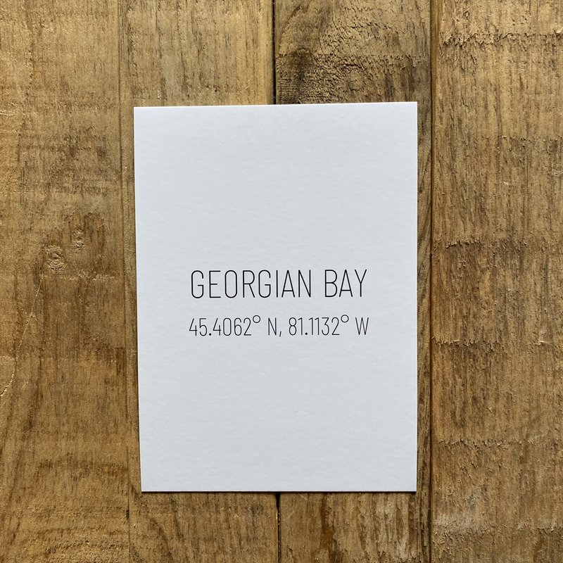 Georgian Bay Coordinates Post Card