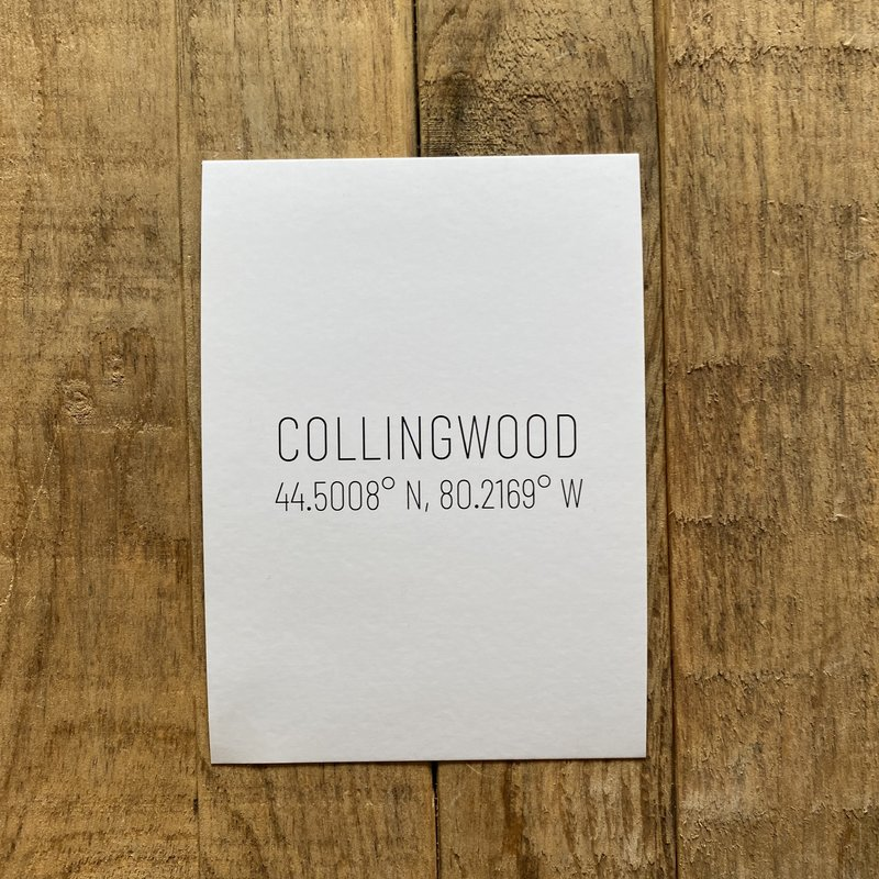 Collingwood Coordinates Postcard