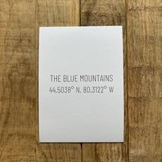 The Blue Mountains Coordinates Postcard