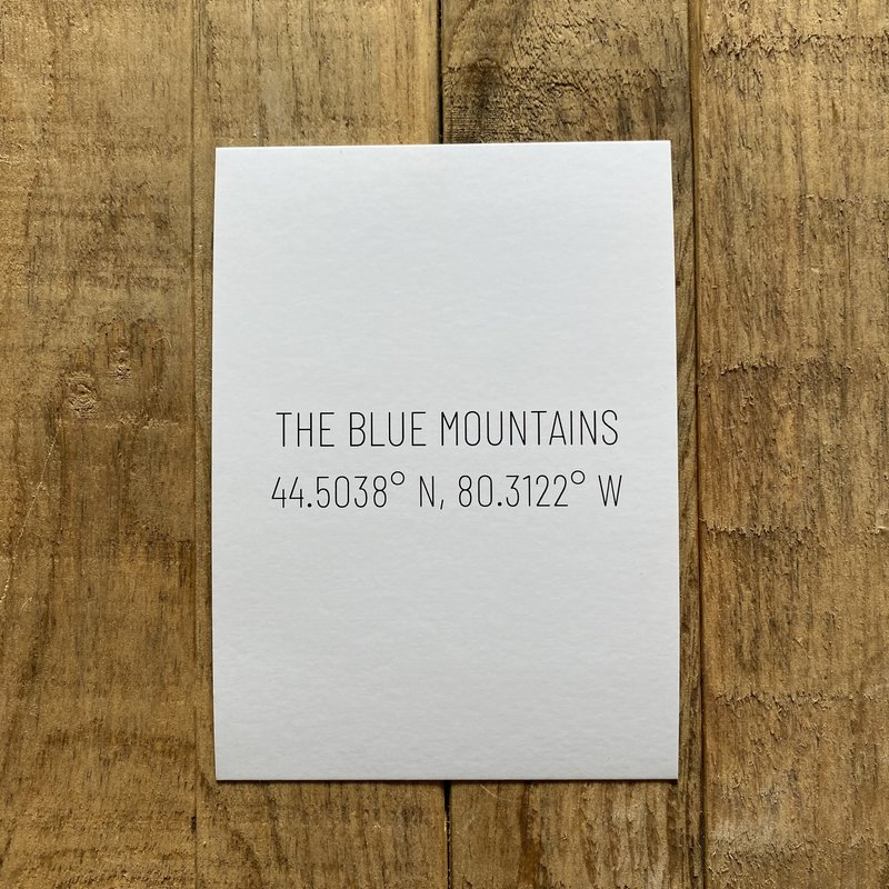 The Blue Mountains Coordinates Postcard