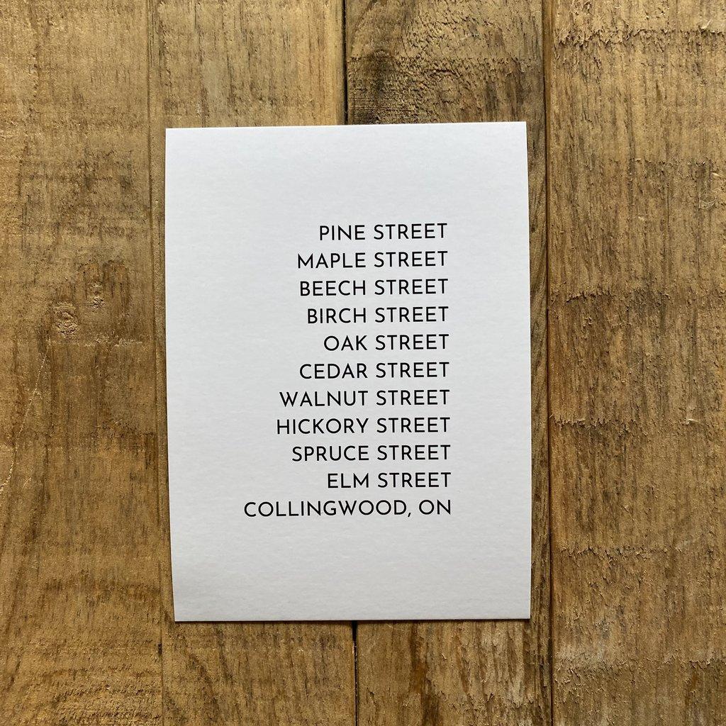 Collingwood Tree Streets Postcard