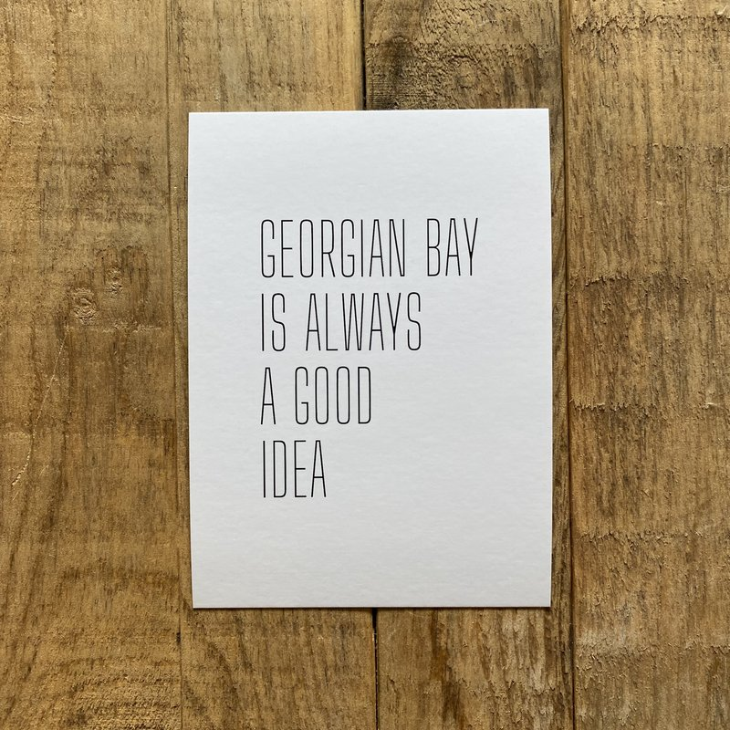 Georgian Bay is.. Postcard