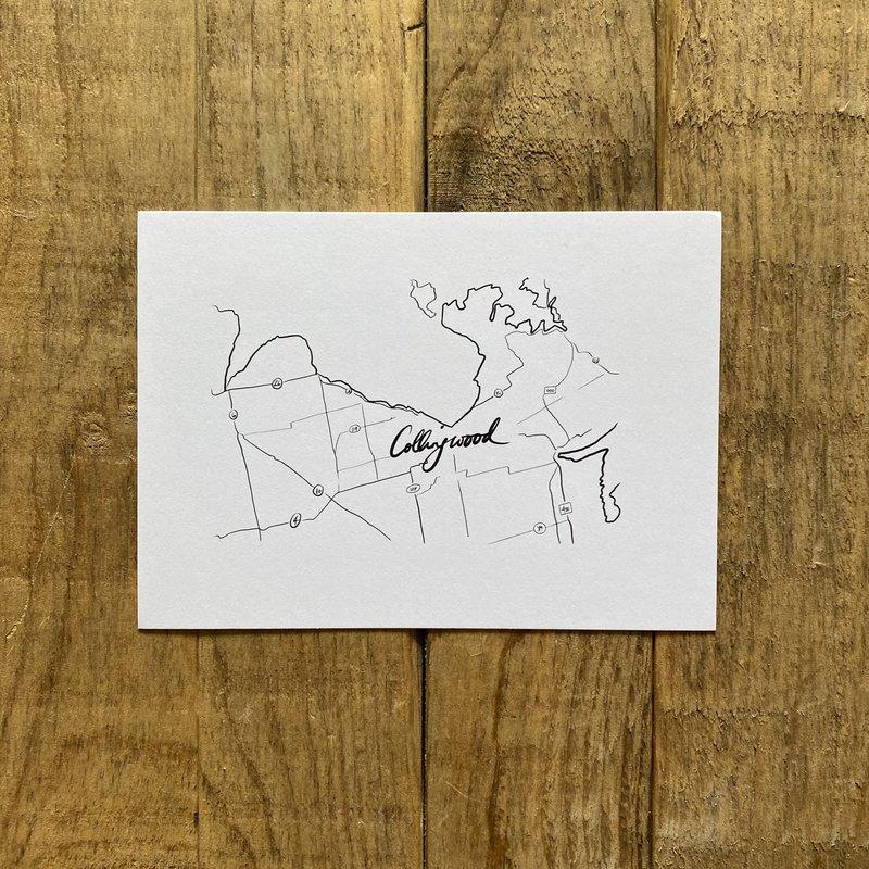 Postcard - Collingwood Map