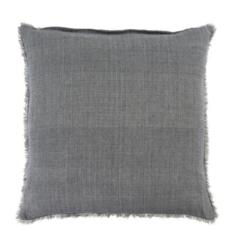 Steel Grey Lina Linen Pillow