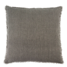 Warm Grey Lina Linen Pillow