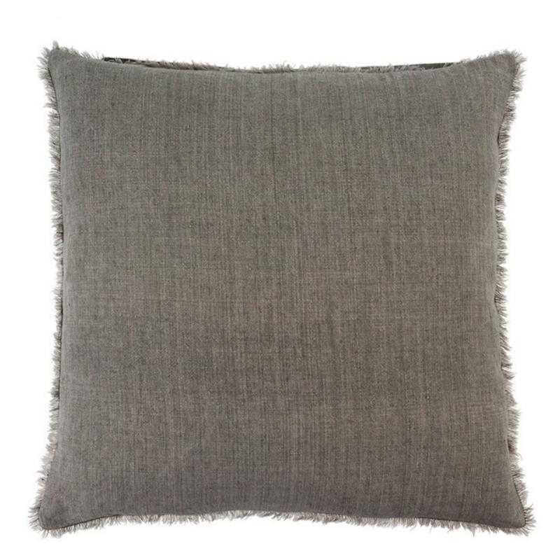 Warm Grey Lina Linen Pillow