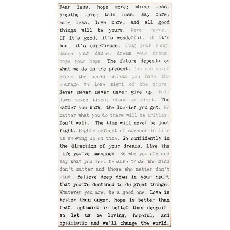 Inspiration Typewriter Sign