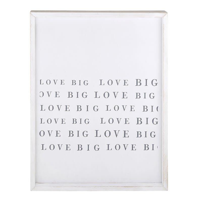 Framed Word Board Love Big