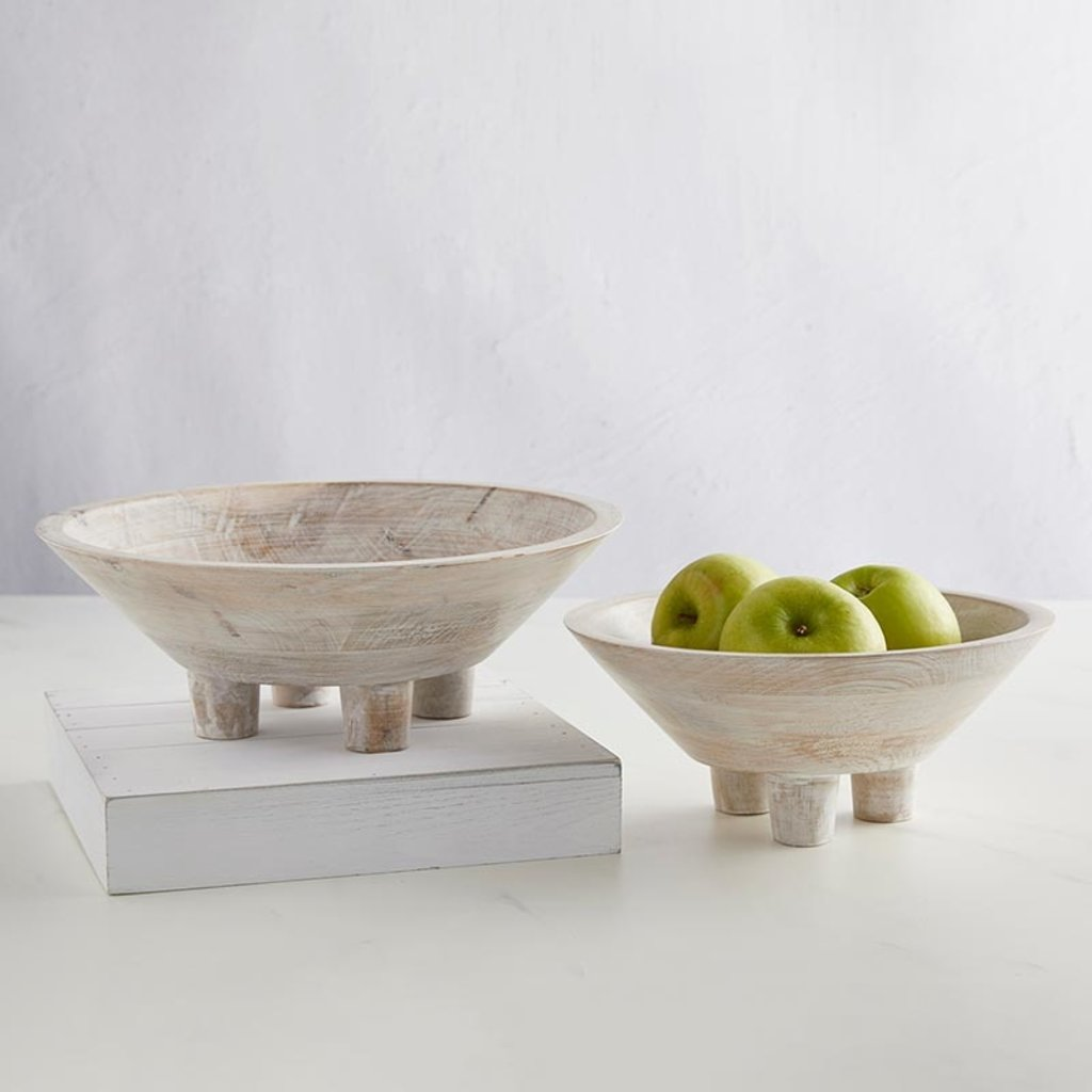 Wooden Footed Bowls