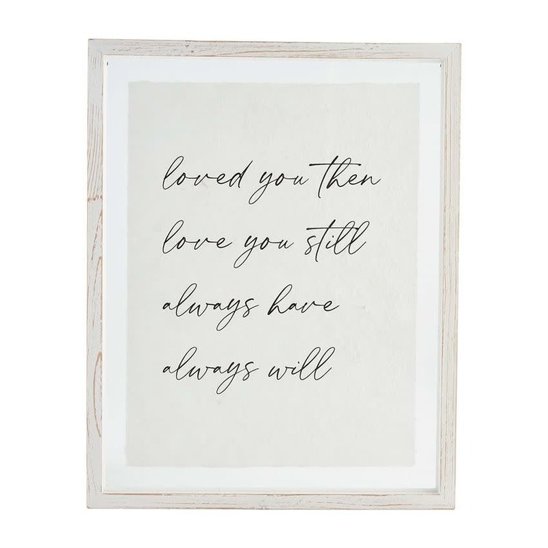 Loved You Glass Wall Art