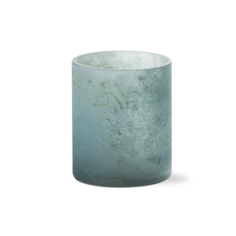Aqua Frosted Tealight Holder