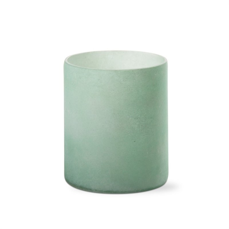 Green Frosted Tealight Holder