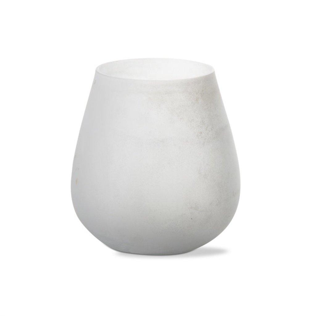 White Frosted Monterey Tealight Holder