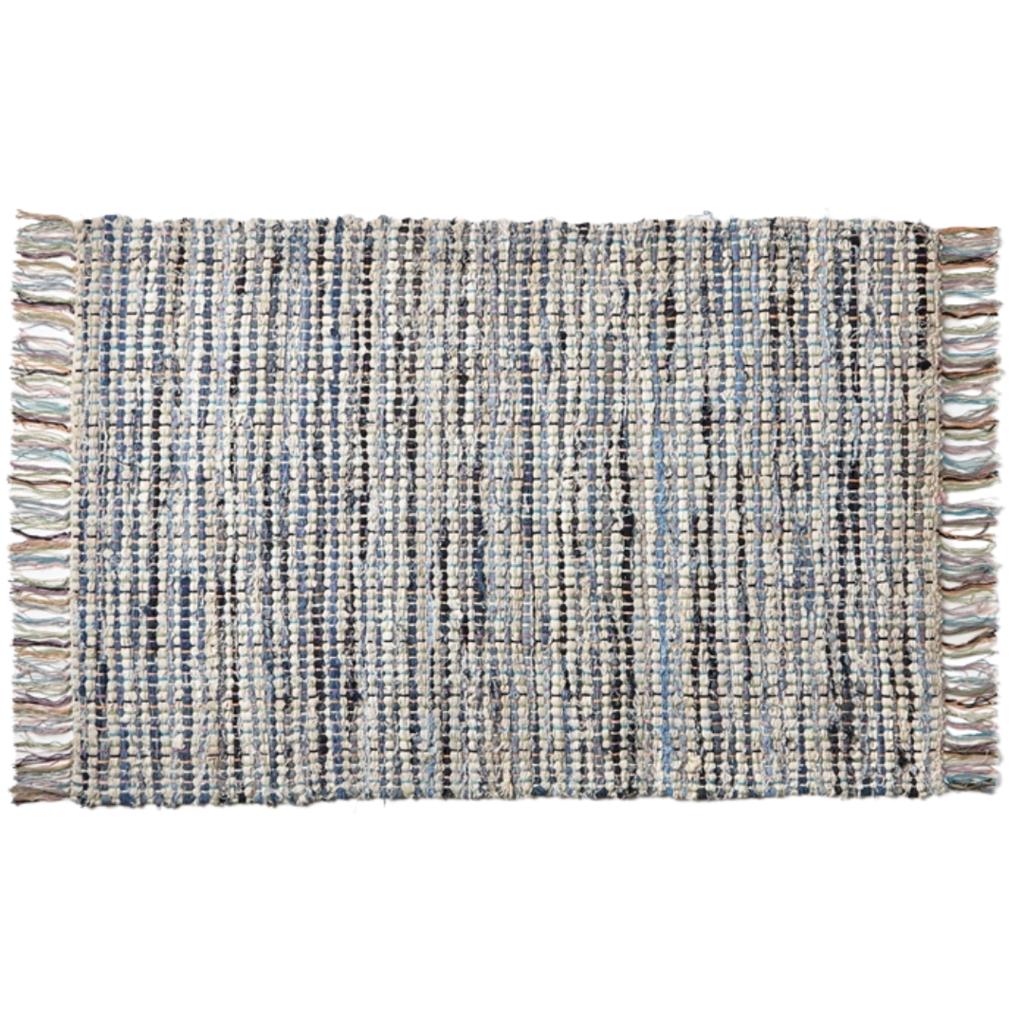 Handwoven Plaid Chindi Rug