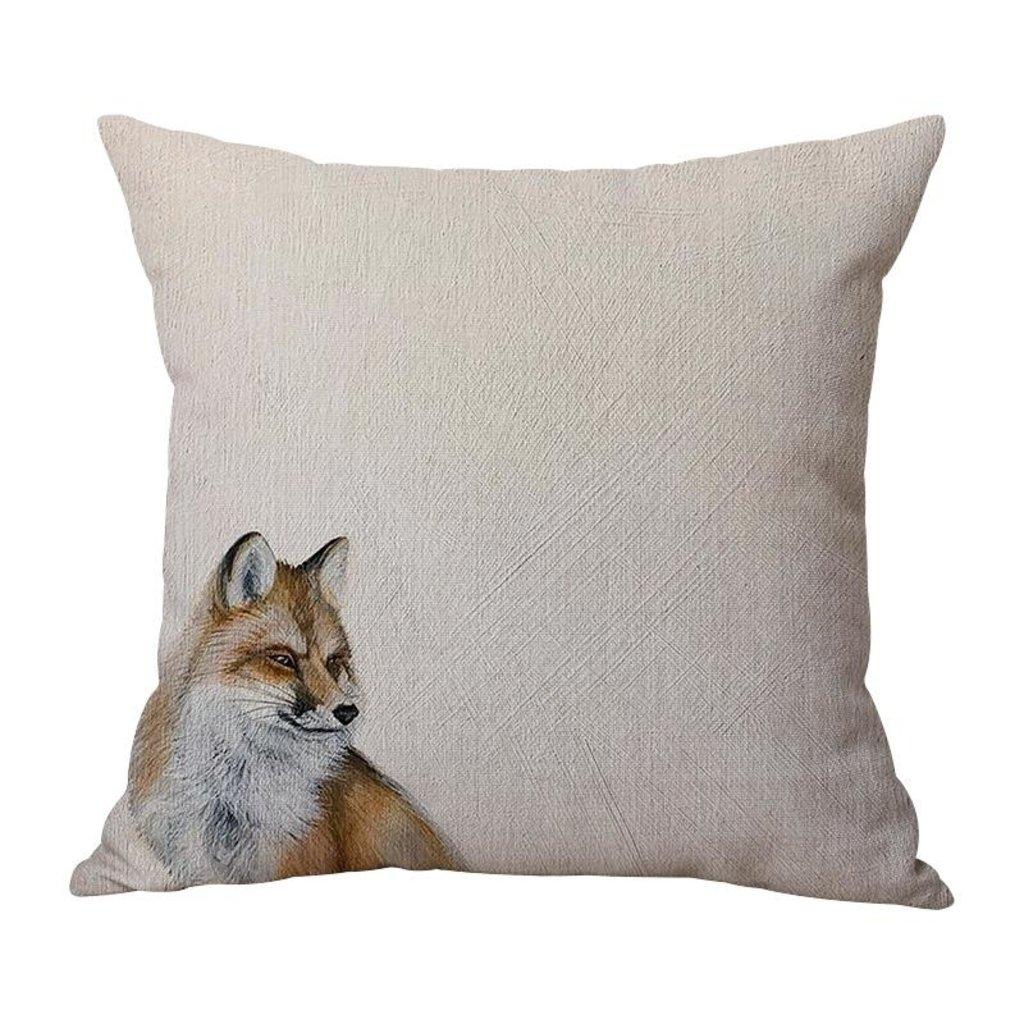Sitting Fox Indoor/Outdoor Pillow