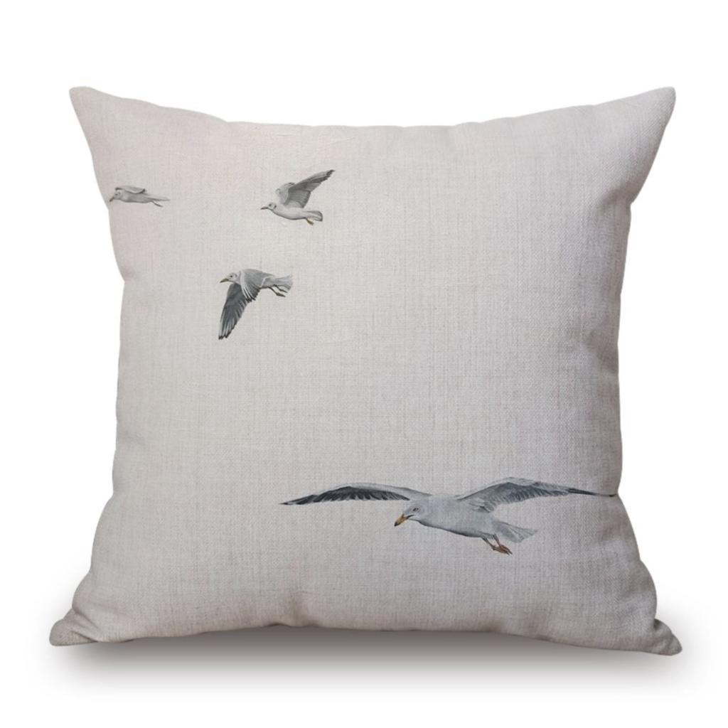 Flying Seagulls Indoor/Outdoor Pillow