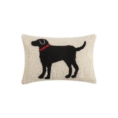 Black Dog Hook Pillow