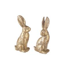 Gold Sitting Rabbits