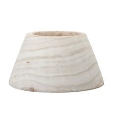 Handcarved Whitewash Paulownia Bowl
