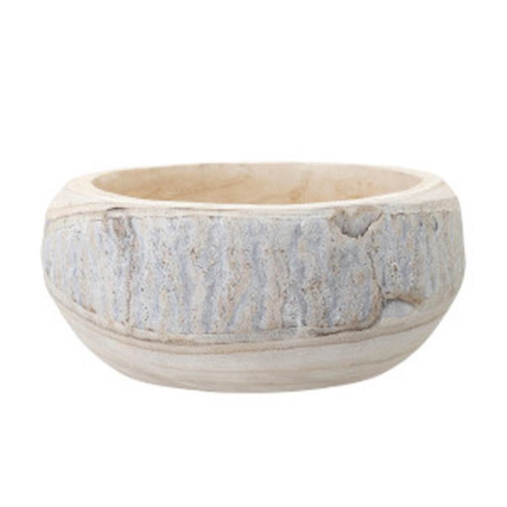 Whitewash Paulownia Bowl